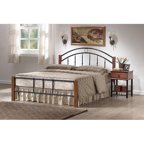 Κρεβάτι Μεταλλικό Ξύλινες Κολώνες