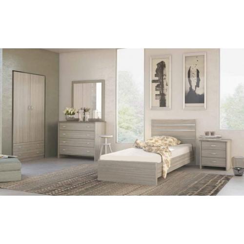 Κρεβάτι Μονό Σχέδιο Νίκελ