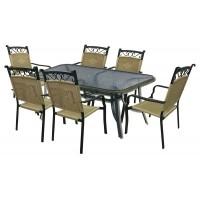 Σετ Αλουμινίου Τραπέζι με 6 Πολυθρόνες
