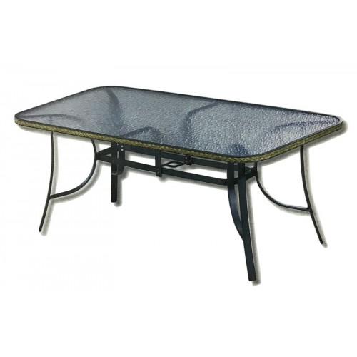 Τραπέζι Αλουμινίου με Wicker Κυπαρισσί